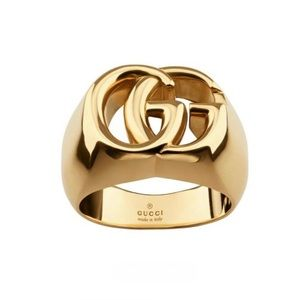 New Authentic Gucci 18k Gold GG Ring Size 9.5